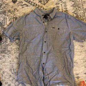 Button up Hurley striped dress shirt